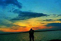 Sunset / Beautiful sunset#sundown#clowds#water#Love