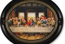 LAST SUPPER PRINTS / Our Last Supper plaques are beautifully crafted with fine details, in quality wood frames. Catholic Gifts