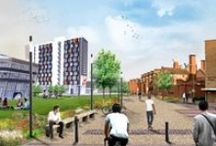 DMU Spectacular Rebuild / A spectacular £136m campus transformation is under way at De Montfort University, in Leicester. It will provide cutting-edge new buildings and teaching facilities as well as creating a 'green lung' at the heart of campus.