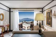 Capri Palace, Rooms & Suites / Capri Palace Rooms & Suites The boutique and luxury hotel Capri Palace has 57 rooms and 15 suites, some of them with private pool and garden. All of them are elegantly furnished in contemporary style and careful attention to the design.