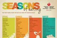 Seasonal Fruits and Vegetables / Are you curious what vegetables are fresh and in season. It's always best to shop local for your fruits and vegetables. This is the perfect way to get creative in the kitchen while eating healthy and clean.