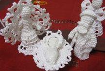 Anjos de crochet / Trabalhos feitos por mim