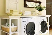 Laundry Room Ideas / Landry room ideas,getting organized, tips and designs to make it look lovely and practical.