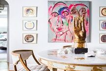 Decorating with Art / From classic decorative fine art to the most modern objects to furnish your home interiors