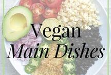 Vegan // Main Dishes / High-raw vegan main dishes that are easy, quick and delicious for any occassion! If you are busy, there is no need to slave in the kitchen for hours to create entrees and main meals for you and your family. These simple and satisfying vegan main dish recipes will easily keep you going on the vegan lifestyle.