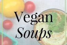 Vegan // Soups / Raw vegan and vegan soup recipes and vegan soup recipe ideas