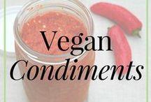 Vegan // Condiments / Raw food | Raw vegan | Raw vegan condiments | condiments | raw vegan condiment recipes | raw food condiment recipes | vegan condiment recipes | vegan condiments | whole food plant based condiments | condiment recipe | healthy condiments