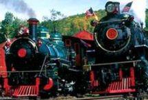 Steam Locomotives at Tweetsie Railroad / Two historic steam locomotives ride the Tweetsie Railroad, No. 12 (Tweetsie)  and No. 190 (The Yukon Queen).