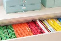 Organização - Escritórios, documentos, papéis, fotos e afins