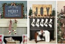 Holiday Fireplace Decorations / Decorate your home fireplace for the holidays
