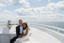 Real Yacht Weddings / An inside look at all of our beautiful couples and their wedding journey with Infinity and Ovation Yacht Charters.