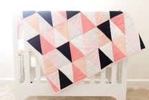 CRAFT | Quilts / With a recent resurgence in popularity, quilts are a beautiful addition to any home. Here I've pinned quilts that are modern and fresh as inspiration.