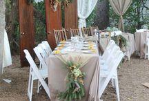 Rustic wedding : The Enchanted Forest at Twisted Pines / rustic, woodland, wedding, decor, fall, outdoor, enchanted, rustic decor, outdoor wedding, deer antlers, fall wedding, enchanted woods, twisted pines, romantic wedding, burlap, handmade, wood, ball jars, retro,