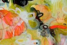 Painting / Acrylic, Oil, Watercolor and mixed media paintings that inspire me. (Meaning there will be lots of color!)