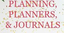 Planning, Planners, Productivity, Journaling, & More / Focuses on planners, planning, productivity, goals, journaling, and finding better ways to get things done with printables, articles, posts and more.