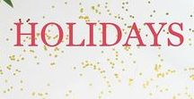 Holiday Decorations, Crafts, Gifts, Activities & More / Focuses on all things holiday. Planning, ideas, decorations, food, desserts, drinks, treats, crafts, activities, and gift ideas.