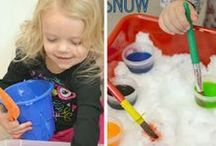 Surviving 4 Months of Snow / I created this board to help me through the hard Midwest winters. It was a hard adjustment going from sunny Southern California to negative degree temperatures; especially with a house full of preschoolers to entertain all day! Here is a collection of fun ideas to keep you and your kids sane through the winter months.