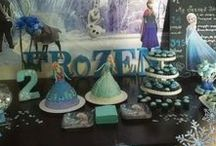 Frozen Birthday Party / Our two oldest girls had a combo sister party when they turned 4 and 2, choosing the best sister theme possible: Frozen! This board contains all the inspiration that went behind the party that I threw for our princesses, as well as links to the stuff I put together for our party.