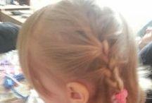 Haar / kapsel creaties bij dochterlief / #hair #haar #kids