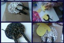 Knutsel dieren (kids) / Geknutselde diertjes samen en door kind #knutsel #kids #kind #craft #animal