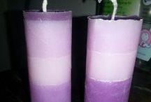Zelfgemaakte kaarsen / homemade candles / zelfgemaakte kaarsen #candle #kaarsen