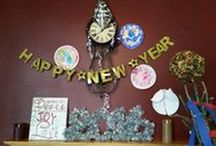 """New Year's / I love the idea of celebrating the journey you went through, while welcoming the unknown change that lies ahead. So I've started to celebrate New Year's with my family every year. Here's a board full of inspiration for how you can make this """"grown up"""" holiday super fun for your littles!"""