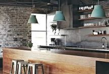 Industrial Interiors / The Industrial style can be an unfinished look and focuses on combining raw and rough surfaces with clean, flat surfaces. Tones of grey, accents of timber and mixed with white for contrast.  Want to achieve this look in your home, visit our showroom in Geelong West for advice from our Design Team.