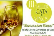 """2014-III Cata de Vinos: """"BLANCO SOBRE BLANCO"""". / III Cata de Vinos """"Blanco sobre Blanco'', realizada el 28 de Noviembre de 2014 en Biblioteca Pública Municipal ''Anexo'' de Los Rosales."""