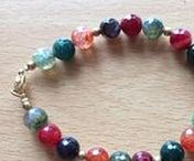 Crystal gemstone positive energy bracelets / Hand-crafted crystal bracelets made with semi-precious gemstones and infused with Reiki energy and positive intent.