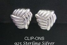 Clip On Earrings - Sterling Silver & Fashion Clip Ons / Stunning range of Artisan Created and Crafted Sterling Silver Clip On Earrings and Fashion Earrings