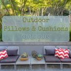 Outdoor Pillows & Cushions / Pillows and cushions make great accessories to your patio furniture. There are many different styles, colors and patterns to help you add that special touch to your outdoor space. Here we share some of our favorites!