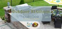 Outdoor Kitchens / People love too cook outdoors! Whether they are grilling yummy foods, cooking delicious seafood or making smores by the fire pit. Here's some of our favorite outdoor kitchens you'll love too!