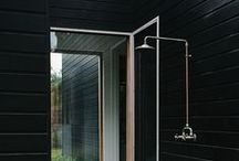 Outdoor kitchens + showers