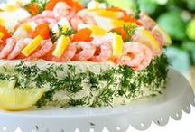 Sandwich Cakes with Seafood