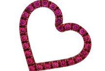 """San Valentino / Brillano i cuori degli innamorati con i gioielli Tatitoto, realizzati in bronzo galvanizzato in nano ceramica rossa (base metallica e castoni) e da spettacolari zirconi nella tonalità """"rosso rubino"""". Realizzati a mano dagli #orafi artigiani di Valenza."""