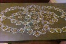 Beeded work milje perlice  glasperlen tischdecke / rucni rad milej perlice stolnjak tablecloth tischdecke aus glasperlen djindjusi hal hal perlenvernähen beeds