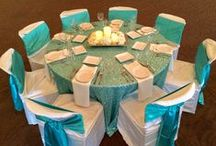 Bright Aqua Blue Wedding