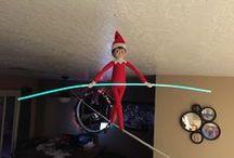 Elf on the Shelf ideas / Fun and Creative ideas for hiding Elf on the Shelf