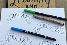 Hand Lettering / Fontastic (!) drawings made by hand