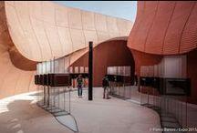 """#Expo2015   UAE Pavilion / Sustain. Care. Innovate. Share. These are the four pillars of UAE Pavilion, designed by Foster & Partners and dedicated to the theme """"Food for Thought""""   Sostenere. Prendersi cura. Innovare. Condividere. Sono i quattro pilastri del Padiglione degli Emirati Arabi Uniti, progettato da Foster & Partners e dedicato al tema """"Food for Thought"""""""