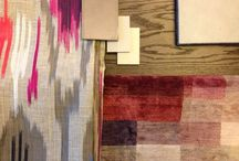 work / moodboards, scetches, materials, fabrics & more
