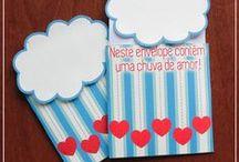 Cartões / Faça você mesmo e inspirações de diferentes cartões românticos para presentear o namorado! Originais do blog Namorada Criativa.