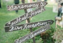 Wedding: Signage