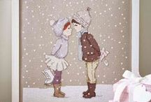Vyšívání - zima, vánoce
