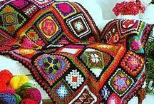 Granny Squares Manía!!! / Montonera de ideas con estos coloridos cuadraditos, triangulitos y figuritas a crochet que no pasan de moda