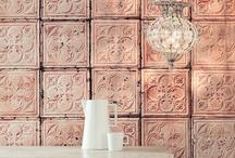 Tin tiles wallpaper