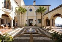 Spanish Courtyards / A selection of images of rustic, Spanish, courtyards taken from properties that are for sale on the Crystal Shore Properties, Marbella, website