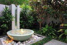 Garden. Waterfalls. Ponds. Fountain. Fontanny. Oczka wodne. Kaskady wodne. Ogród.