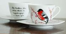 Moje prace - filiżanki i kubki / My crafts - cups and mugs / Here I present my crafts - hand-painted cups and mugs