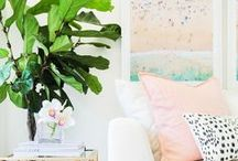 Bringing the Outside In / Get inspired with these amazing ideas for bringing plants, flowers and other natural elements into the home for a truly one of a kind home decor design.